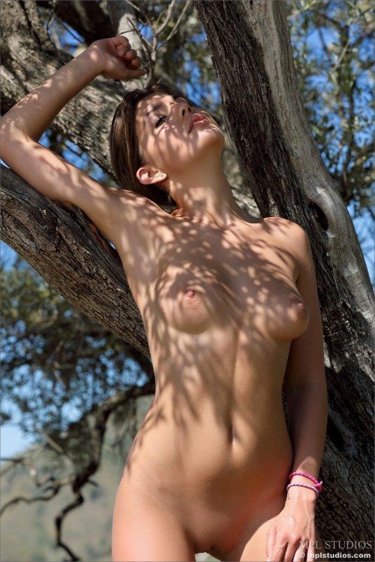 Сексуальная девушка разделась жарким днём - фото