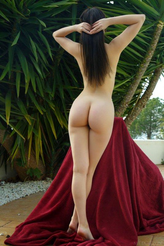 Молодая голая девка с пышной попкой - фото
